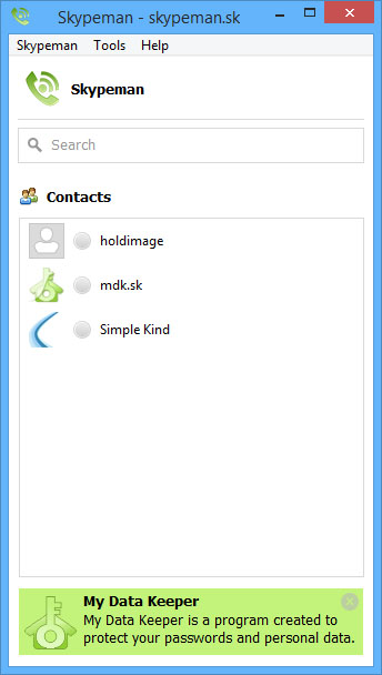 Skypeman Screen shot